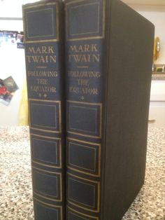 1899 Following The Equator A Journey Around The World Mark Twain 2 Volumes Rare