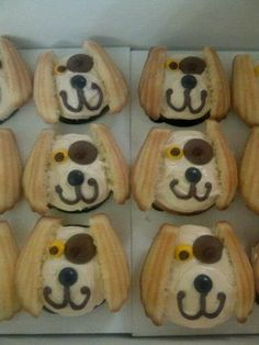 Christine bakes and decorates Doggie Cookies.