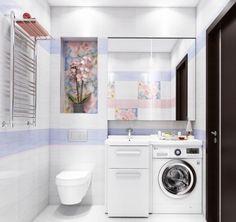 Image result for planifier une petite salle de bain avec machine a laver