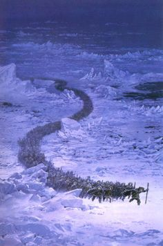 On the march Tolkien Jrr Tolkien, Tolkien Books, Gandalf, Legolas, Das Silmarillion, History Of Middle Earth, John Howe, Morgoth, O Hobbit