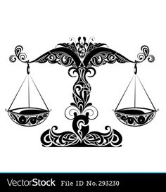 Zodiac signs of libra vector 293230 - by galina on VectorStock® Libra Scale Tattoo, Libra Sign Tattoos, Libra Art, Zodiac Signs Pisces, Pisces Tattoo Designs, Signo Libra, Bild Tattoos, Constellation Tattoos, Picture Tattoos