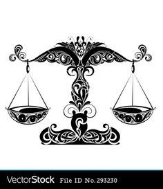 libra zodiac sign | Zodiac signs of libra vector 293230 - by galina