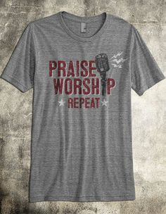 It's common to want the praise and worship set to keep going. This praise and worship tshirt calls you to keep praising and worshiping our God! It doesn't matter whether you're on a worship team or you're simply a Christ follower passionate about praising and worshiping our creator.