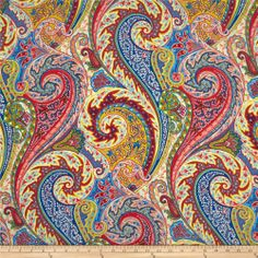 Where Is Jaipur | Williamsburg Jaipur Paisley Jewel - Discount Designer Fabric - Fabric ...