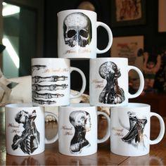 Mug thorax écorché - Collection Memento Mori