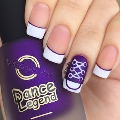 Converse nail art  Video on my YouTube channel, link in my bio I use Dance Legend No323, No649 and matte top coat  @dancelegendofficial #dancelegendofficial  . . Забавный дизайн: кроссовочки Видео на моем канале YouTube, ссылка в описании профиля  Лаки Dance Legend No323, No649 и матирующий топ @dancelegendofficial