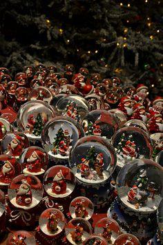 Santa snow domes, Helsinki, Finland