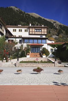 #Montana #Karpenisi #Greece Hotel Spa, Cyprus, Montana, Greece, Mansions, Country, House Styles, Places, Travel