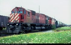 Canadian Pacific Railway M636 4737 at Toronto, Ontario, Canada on August 10, 1984, Kodachrome by Chuck Zeiler. Date: 8/10/1984Location: Toronto, ON CA Country Flag   Map Show Toronto on a rail mapViews: 109Collection Of:   Chuck Zeiler Locomotives: CP 4737(M636)