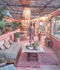 ALL the pink. Marrakesh daydreams with ALL the pink. Marrakesh daydreams with Outdoor Rooms, Outdoor Gardens, Outdoor Living, Outdoor Decor, Exterior Design, Interior And Exterior, Home Decor Quotes, Bohemian Decor, Bohemian Patio