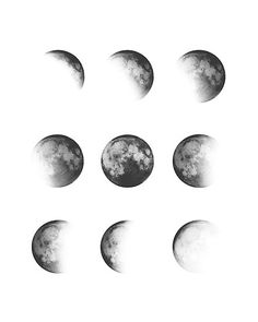Moon Phases * White Framed Art Print by Nordik - Vector Black - Moon Phases Art, Moon Art, Moon Phases Drawing, Moon Moon, White Framed Art, White Art, Black And White, Moon Sketches, Watercolor Moon