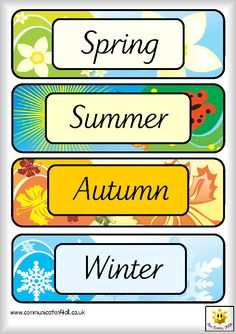 British-English Academy: Months and seasons - miesiące i pory roku zadania. English Activities For Kids, Toddler Learning Activities, Lessons For Kids, Teaching Kids, Teaching Weather, Preschool Weather, Preschool Charts, Preschool Worksheets, English Teaching Materials