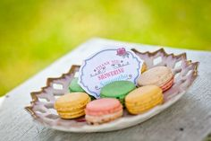 Ooh...a Must have!!!Bridal shower macarons with Vintage Shabby Chic tea party printable