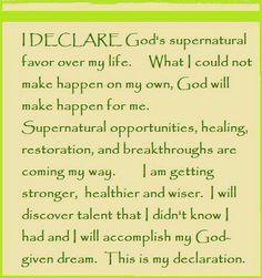 "Day 21 ""I Declare; 31 Promises to Speak Over Your Life"" by Joel Osteen Prayer Verses, Faith Prayer, God Prayer, Prayer Quotes, Bible Quotes, Bible Verses, Prayer Room, Prayer Closet, Joel Osteen"