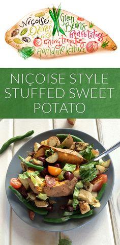 Stuffed Sweet Potatoes Niçoise - Stuffed Sweet Potato Monday