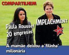 Dilma ainda não respondeu como a filha dela ficou milionária e se tornou dona de 20 empresas. Será que ela não sabia de nada?