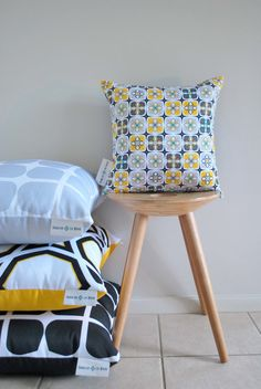 Industrial Haze Cushion Cover A geometric pattern by CharleeLeMore, $45.00