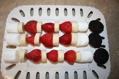 Dessert: Kids dessert skewer!!...for D, G and E