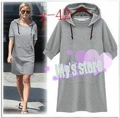 PLUS Fashion Hooded Dress LS158 PLUS size 1X2X3X4X5X6X7X8X9X10X(size16-52)