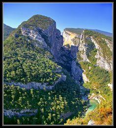 Le Couloir Samson vu du point sublime, les Gorges du Verdon -Provence, France