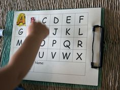 Great ABC game for kids. Have them cut and paste magazine letters onto an alphabet chart. Abc Centers, Kindergarten Centers, Kindergarten Literacy, Preschool Learning, Literacy Centers, Letter Activities, Literacy Activities, Letter Identification, Teaching Letters