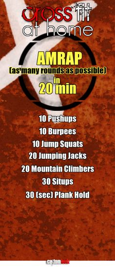 You don't have to join a CrossFit gym to get in a great CrossFit workout.Try this CrossFit workout j Hiit, Amrap Workout, Gym Workouts, At Home Workouts, Kettlebell Cardio, Hotel Workout, Kettlebell Training, Travel Workout, Fitness Gym