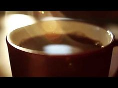Coffee Clip -- Closeup of Coffee Pouring In Mug w Delightful Sound - YouTube
