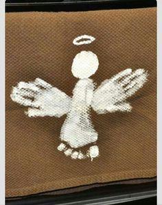 Foot/handprint angels