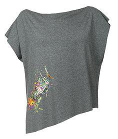 Bluzka Cube szary melanż w Feel Joy na DaWanda.com