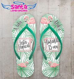 Chinelo Infantil Festa Tropical Flamingo COD 5962 - Santa Lembrancinha Sunset Party, My Pool, Tropical Party, Birthday Parties, Pool Party Birthday, Pool Parties, Coming Out Party, Flamingo Birthday, Mexican Theme Parties