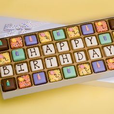 """Happy Birthday"" Petit Fours. Nice gift idea."