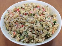 Fusilli, Antipasto, Pasta Salad, Tapas, Food And Drink, Ethnic Recipes, Foods, Red Peppers, Crab Pasta Salad
