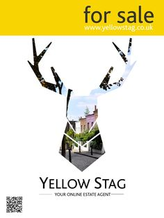 For Board Sign Yellow Stag Online Agent Save Thousands Today
