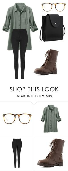"""""""Untitled #307"""" by creece-massoudi ❤ liked on Polyvore featuring Linda Farrow, Topshop and Charlotte Russe"""