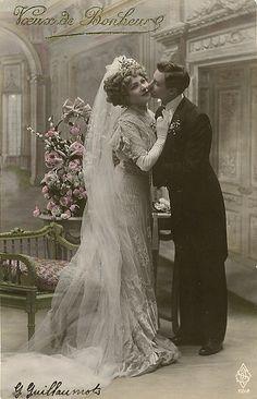 Vintage Postcard ~ Wedding Day