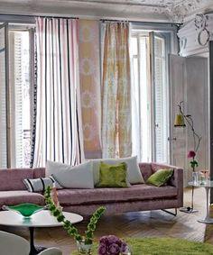 """Lime och """" gammelrosa"""". Florimund fabrics, designersguild.com"""