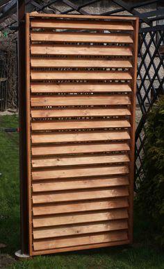 drewniana żaluzja ogrodowa