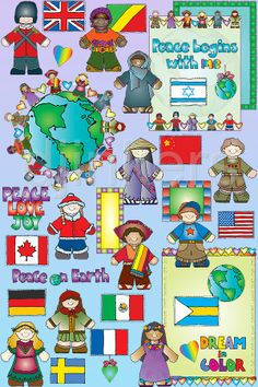 Clip art of kids around the world by Dianne J Hook.