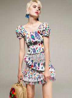 Fashion Prints, Boho Fashion, Muumuu, Ruffles, Spanish, Spring Summer, Short Sleeve Dresses, Unique, Pattern