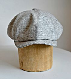 Men's Newsboy Hat in Vintage Gray Wool - Newsboy Cap - Men's Hat - Made to Order in Your Size 1950s Fashion Menswear, Mens Newsboy Hat, News Boy Hat, Flat Cap, Outfits With Hats, Hat Making, Vintage Wool, Hat Sizes, Hats For Men