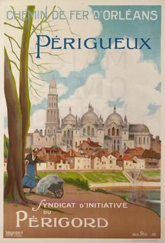Felix  1924 Perigeux Perigord Cathedrale Saint Front | by estampemoderne.fr