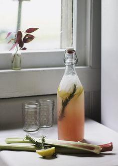 Rosemary Rhubarb Lemonade
