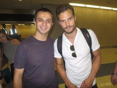 Jamie Dornan and a lucky fan in New York on 8/3/16 http://everythingjamiedornan.com/gallery/thumbnails.php?album=36