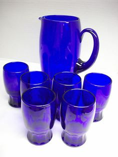 COBALT BLUE DEPRESSION GLASS