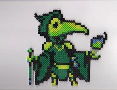 The fruits of my research are no mere trick!  The mad trickster, Plague Knight! Plague Knight is made out of Perler and Artkal beads. His