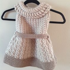 Diy Crafts - My latest project. An evolution of the Constance Tunic. A few more sizes and it will be ready to hit the market. Crochet Dress Girl, Crochet Baby Jacket, Knit Baby Dress, Crochet Baby Clothes, Crochet Girls, Crochet For Kids, Newborn Crochet, Kids Knitting Patterns, Crochet Poncho Patterns