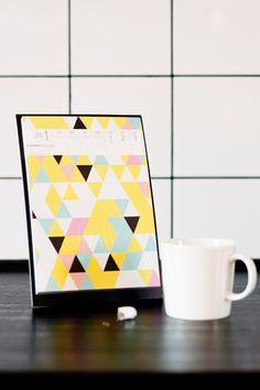 Calendar / Johanna Högväg for Art Print Japan / photo: memento, Linda Tallroth-Paananen