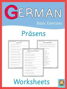 These German worksheets can be used to practice, to review or to test German…