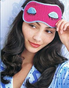 sleep mask & chart ~ **Free Crochet Pattern ~ This will make a great gift for someone**