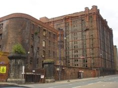 Stanley Warehouse - the largest brick building in the world, on the Dock Road in Liverpool. It plays an important part at a key moment in Bombed Out!